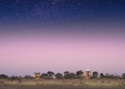 Beautiful Tours Botswana Sky Beds at Dusk