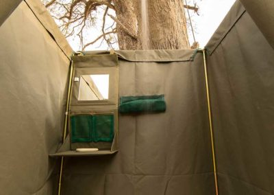 Beautiful Tours Botswana Mobile Safari Shower Interior